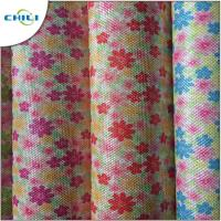 China Shoes Printed Faux Leather Fabric , Leatherette Upholstery Fabric Easy Cleaning wholesale