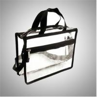 China Recyclable Transparent Pvc Zipper Bag / Travel Storage Bags With Handle wholesale