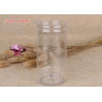 China Dry Food Packaging Transparent Plastic Jars Clear Plastic Cylinder With Aluminum Pull - Ring Lid wholesale