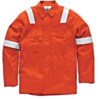 China Big And Tall Welding Flame Resistant Clothing Orange Color High Vis wholesale