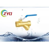 Quality 3 4 Brass Strainer Valve , Plumbing Y Strainer Valve With 304 S.S. Fileter for sale
