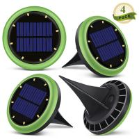 China 8 Led Solar Ground Lights Garden Solar Disk Ground Light For Night 2 Years Warranty wholesale
