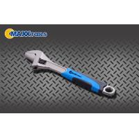 China Black Nickel 2- Tone PVC Grip Adjustable Spanner Wrench , Automotive Hand Tools wholesale
