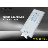 China 7000K Park LED Solar Street Lights With PIR Motion Sensor Control wholesale
