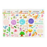 China Plant Custom Kids Sticker Printing , Puffy Animal Stickers Printed Blister Packaging on sale
