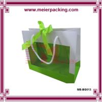 China Fancy high quality retail paper bag wholesale with ribbon closure and clear window wholesale
