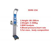 China Medical height weight scales with fat mass , blood pressure, body water and BMI wholesale