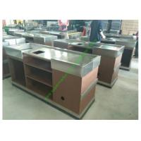 China Stainless Steel Cash Register Counter Stand / Till Counters For Shops Or Retail Stores wholesale