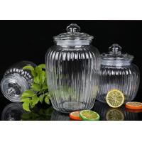 China 1350ml Capacity Glass Jam Jar With Lid / Durable Glass Jar For Spicy Beans wholesale