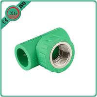 China Reliable PPR Female Threaded Tee Green / White Color Smooth Internal Surface wholesale