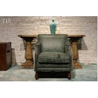 China antique green leather chair sofa furniture,#715 wholesale
