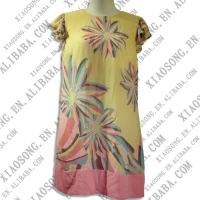 China printing cotton casual dress wholesale