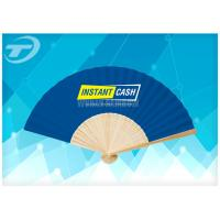 Buy cheap 21cm Promotional Bamboo Folding Hand Fans With Paper Or Fabric from wholesalers