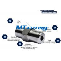 China F347 2000LBS Forged High Pressure Pipe Fittings ,  Stainless Steel Hex Nipple wholesale