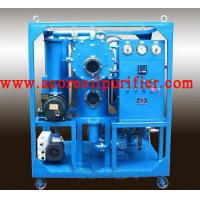 China Transformer Oil Purification Plant With Double Stages Vacuum Systems on sale