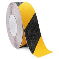 China Yellow Black Anti Slip Adhesive Safety Tape High Traction Warning For Outdoor Steps on sale