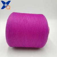 Quality Purple Ne21/2plies 10% stainless steel blended 90% polyester for knitting touch for sale
