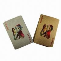 China 24K Gold Foil Playing Cards, Customized Designs are Accepted wholesale