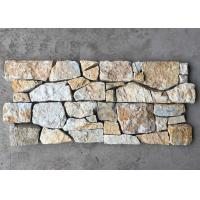 China Yellow Slate Z Stone Panel with Steel Wire Back,Thick Slate Stacked Stone Cladding,Outdoor Veneer wholesale
