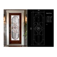 China Classical Color Door Art Glass Panels Thermal Sound Insulation Various Shape wholesale