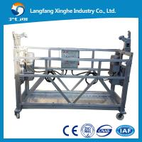 China Aluminium alloy / Hot galvanized suspended scaffolding / gear winch / suspended building platform wholesale