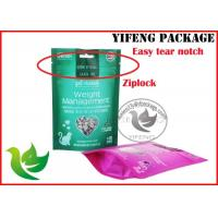 China Industrial Stand Up Ziplock Storage Bags With Clear Window , Gravure Printing wholesale