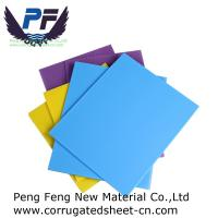 China 2-12 mm cheap price Recycle Packaging Fluted Polypropylene Corrugated Sheet for packing industry wholesale