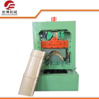 China Standard Style Color Steel Roll Forming Machine , Roof Ridge Cap Roll Forming Machine wholesale