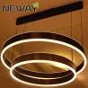 China Modern Contemporary Ring White Acrylic LED Direct/Indirect Pendant Lighting Fixtures wholesale