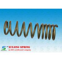 China 14mm Wire Off Road Automotive Coil Springs , Vehicle Coil Springs Gold Powder Coated XL-1118 on sale