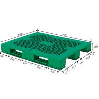 China 1200X1000X78mm Customized Grid Dampproof HDPE Plastic Storage Pallet for Warehouse wholesale