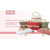 China Fashion Style Stackable Gift Boxes Pillow Boxes Silk Handle Heat Transfer wholesale