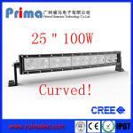 "China 25"" 100W Curved Cree Led Light bar-Single Row Led Light Bar wholesale"