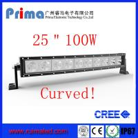 """Buy cheap 25"""" 100W Curved Cree Led Light bar-Single Row Led Light Bar from wholesalers"""
