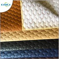 China Artificial PVC Leather Fabric Non Woven Long Durability Chunky Elegant wholesale