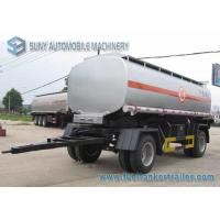 China 15000 L 2 Axles Oil Tank Trailer , Full stainless steel tanker trailers For Water / Chemical / LPG wholesale