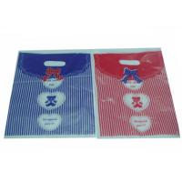 China Heavy Duty HDPE / LDPE Die Cut Handle Plastic Reusable Shopping Bags wholesale