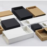 China Custom Printed Clothing Paper Boxes , Drawer Type Paper Shopping Box wholesale