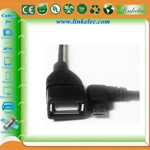 China micro angled usb otg cable on sale