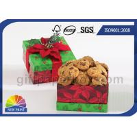 China Cookie / Chocolate Food Packaging Box , Customized Gift Wrapping Boxes with Art Paper wholesale