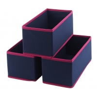 China 28x14x13cm 3 Pack Collapsible Storage Bin For Home Organization wholesale