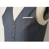 China Big Stripe Mens Three Piece Suit , Grey Wool Three Piece Suit Anti - Wrinkle wholesale
