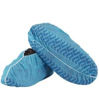 China Non - Skid Disposable Shoe Covers , Breathable Non Woven Disposable Indoor Shoe Covers wholesale