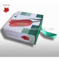 Square Flower Packaging Boxes , Cardboard Gift Boxes With Ribbon