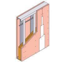 China Wall Partition System Set-Metal Stud+Track+DU38+Supporter+Glass Wool+Screw+Paper Joint Tape+Plasterboard wholesale