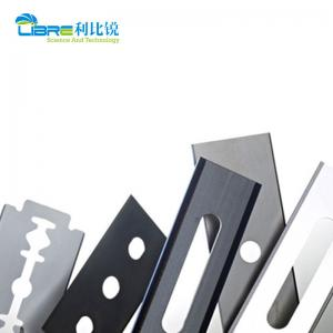 China Tungsten Carbide 0.12mm 3 Hole Razor Blades For Plastic Film wholesale