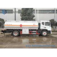 China 12m3 Stainless Steel Tanker Trailers , Small Fuel Tanker Truck 80 Km/H Max Speed wholesale