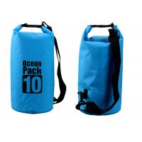 China Outdoor Activities 10l Dry Storage Bags Watertight With Shoulder Strap wholesale