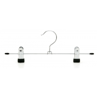 China 33cm Metal Pant Hangers With Clips wholesale