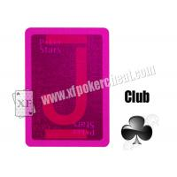 China Magic Props Copag Pokerstars Plastic Invisible Cards Working With UV Contact Lenses Gambling Trick wholesale